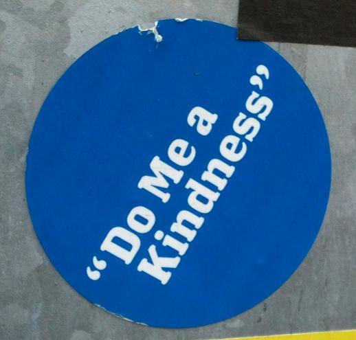 sticker do me a kindness Amsterdam