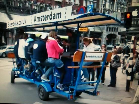 Amsterdam beer-bike