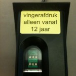 'fingerprint from the age of 12', Amsterdam, Holland