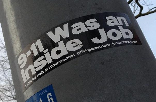 sticker 9-11 was an inside job Amsterdam