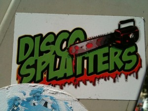 sticker 'disco splatters'