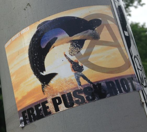 sticker free Pussy Riot forget about Willy Amsterdam 2014 May anarchy
