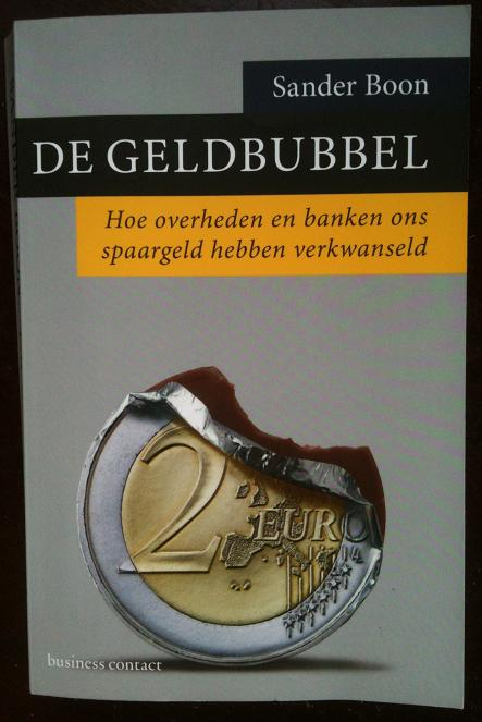 'De Geldbubbel' Sander Boon kaft