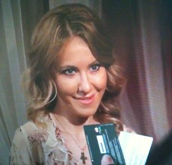 Ksenia Sobtjak credit card reclame Rusland
