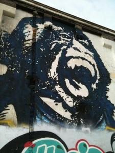 graffiti Bust gorilla ape muurschildering Amsterdam