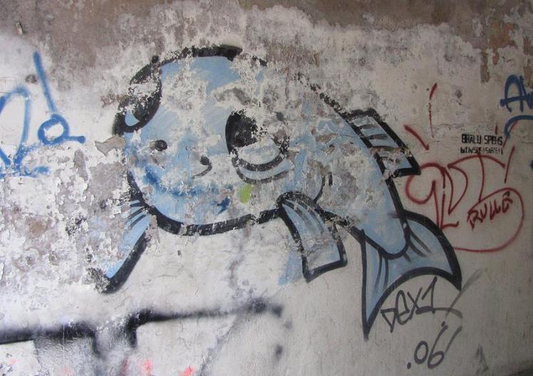 graffiti fish Riga 2012