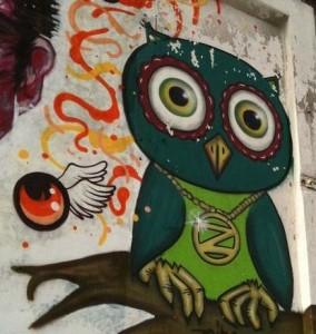 graffiti owl Amsterdam uil