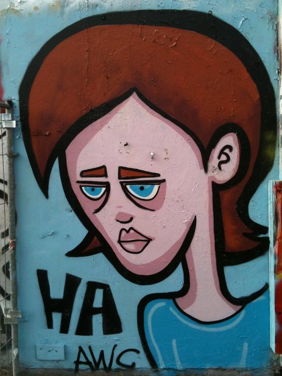 graffiti woman HA girl wall-paint Amsterdam