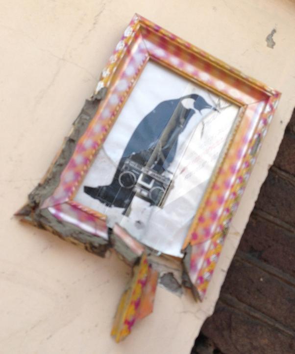 schilderij pinguin Hero de Janeiro Amsterdam center 2013 August