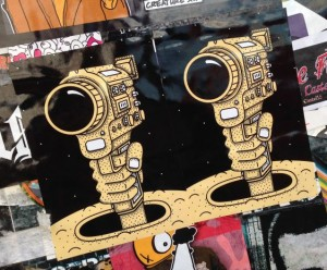 sticker camera hand held gun Amsterdam center 2014 May weapon