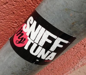 sticker sniff my tuna Amsterdam art