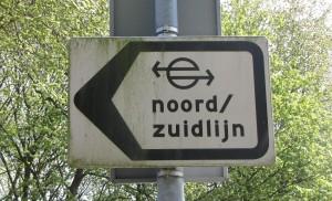 bord Noord-zuid-lijn Amsterdam Noord
