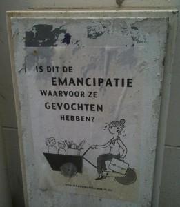 emancipatie poster de Pijp Amsterdam