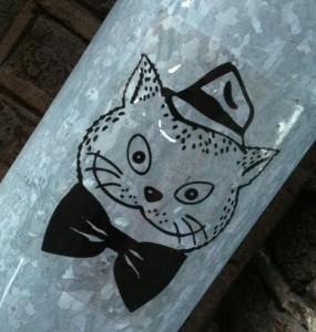 sticker El Gato 'kat strik hoed'