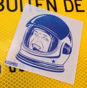 sticker Kosmos astronaut helmet Amsterdam August 2013