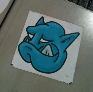 sticker Reus dog alien Amsterdam 2012 hond