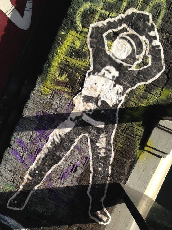 sticker astronaut Amsterdam center 2013 September
