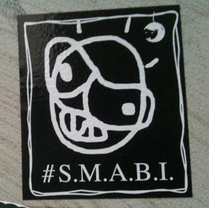 sticker 's.m.a.b.i. So much anger built inside'