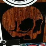 'transparant skull sticker'
