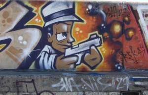 Esland Tallinn graffiti gangster gun