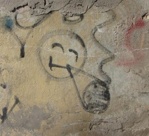 Riga smile plus joint graffiti