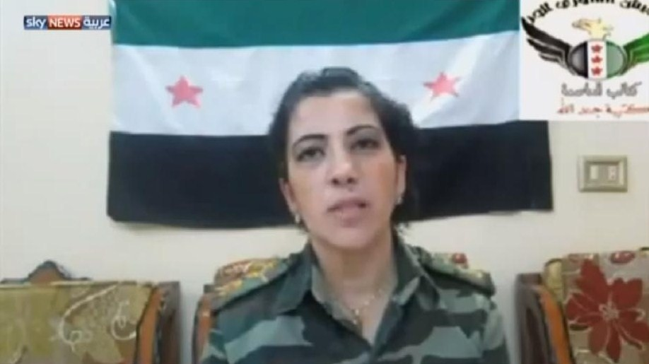 female fsa-leader Zubaida al-Meeki