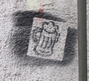 graffiti pul bier Boedapest
