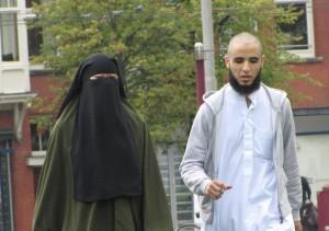haatbaard-demo-Museumplein niqaab