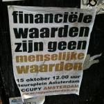 poster 'financiële waarden menselijke waarden'