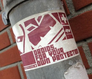 sticker Droids for protection Amsterdam