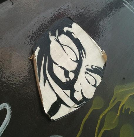 sticker 'Guy Fawkes mask, Wikileaks'