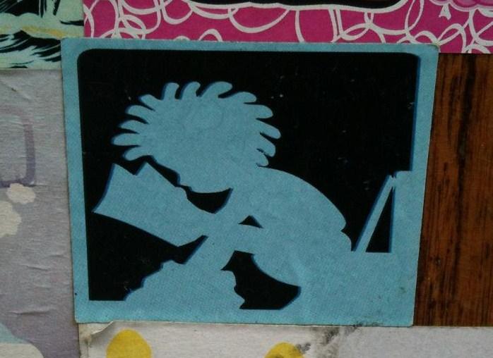 sticker Yatusabes man reads on toilet Amsterdam 2012