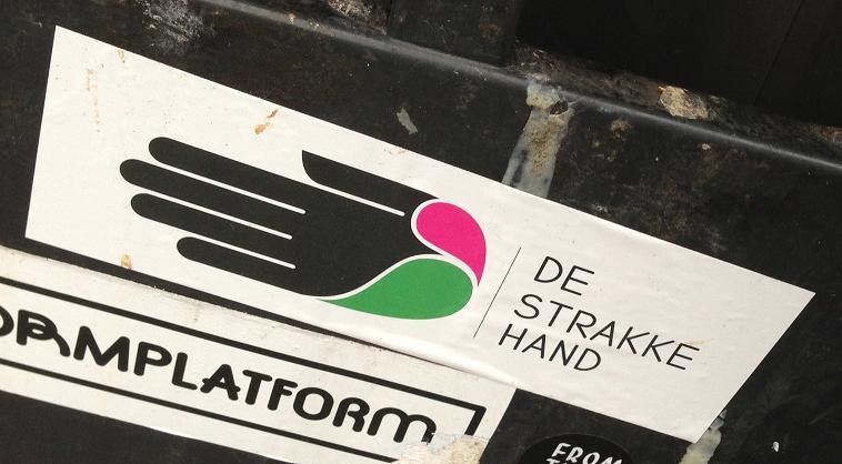 sticker de strakke hand Utrecht 2013