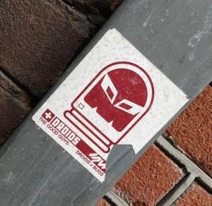 sticker droids good guys vs bugs Amsterdam