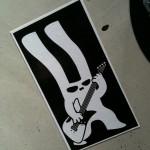 sticker konijn met gitaar Utrecht