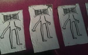 sticker 'mens - barcode als hoofd' 3