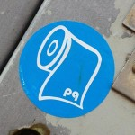sticker pq wc-papier Amsterdam