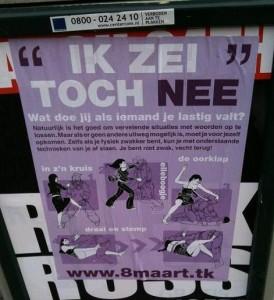 'ik zei toch nee' poster tegen seksueel geweld