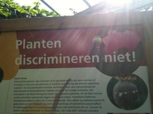 planten discrimineren niet, Hortus Utrecht