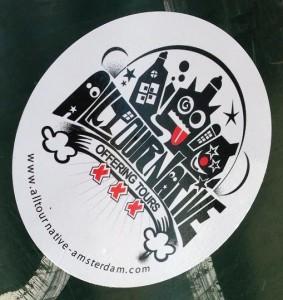 sticker Alltournative offering tours Amsterdam August 2013