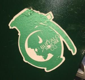 sticker Buffalo soldier Co 2014 July Philadelphia grenade army