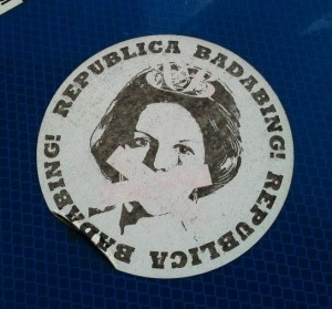 sticker 'Republica Badabing'