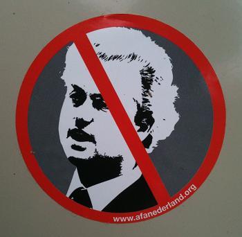 sticker Wilders verboden Afa Nederland