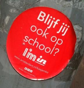 sticker 'blijf jij ook op school'