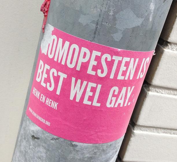 sticker homo pesten best wel gay Utrecht 2013
