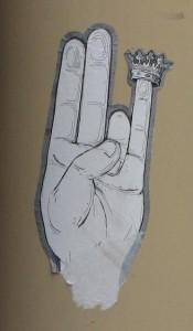 sticker 'kroon op vinger'
