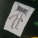 sticker 'mens - barcode als hoofd' 2
