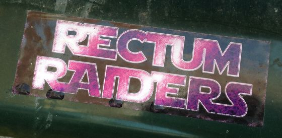 sticker rectum raiders Amsterdam east 2013 November gay