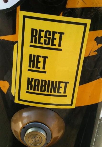 sticker 'reset het kabinet'