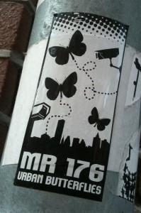 sticker 'urban butterflies mr 176', Amsterdam